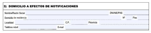 Formulaire EX-15 Demande de NIE