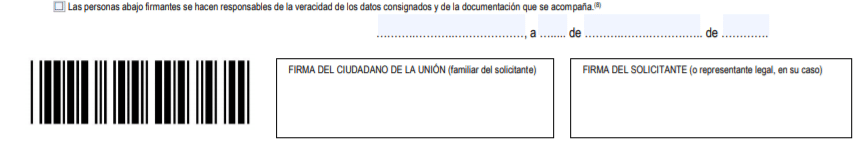 Remplir le formulaire EX18 - Signature